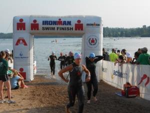 70.3 swim finish