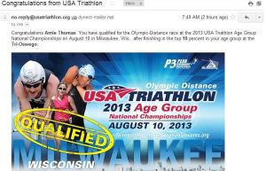 USAT Olympic Age Group 13